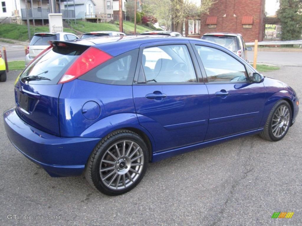 Sonic Blue Metallic 2004 Ford Focus Svt Hatchback Exterior