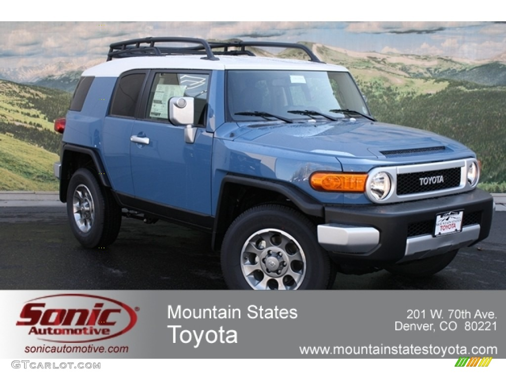 2012 Cavalry Blue Toyota FJ Cruiser 4WD 63450347 Photo 5