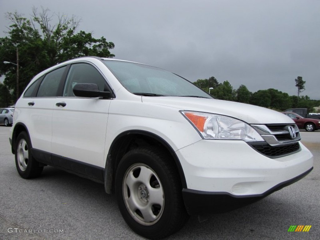 2010 CR-V LX - Taffeta White / Gray photo #1
