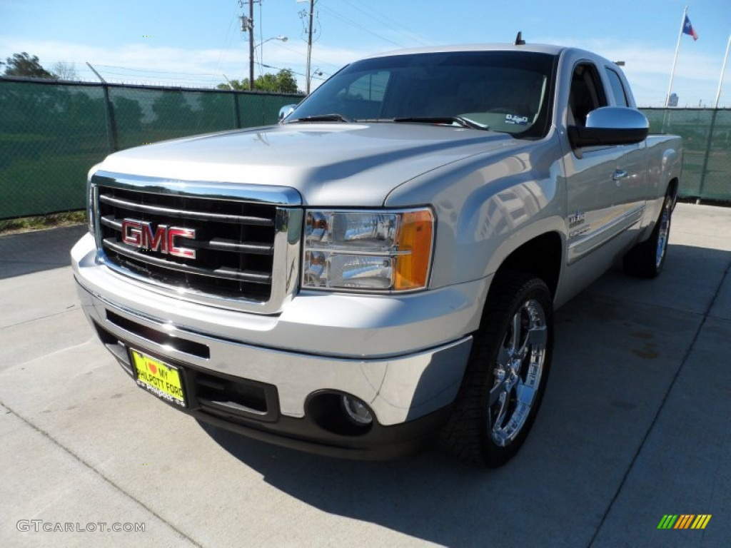 2011 pure silver metallic gmc sierra 1500 texas edition extended cab 63450694 photo 6. Black Bedroom Furniture Sets. Home Design Ideas
