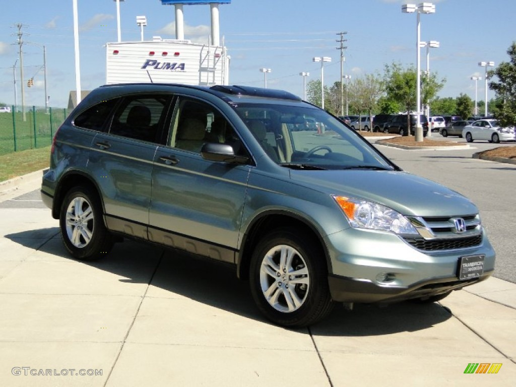 2010 CR-V EX - Opal Sage Metallic / Ivory photo #2