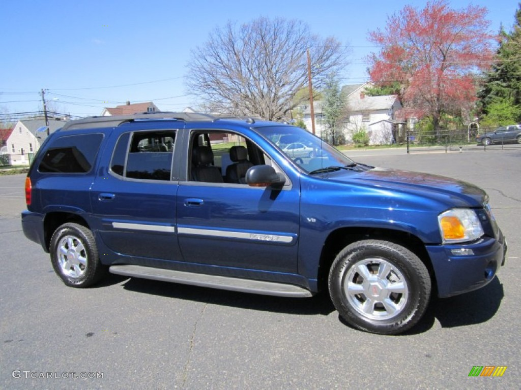 indigo blue metallic 2004 gmc envoy xl slt 4x4 exterior. Black Bedroom Furniture Sets. Home Design Ideas