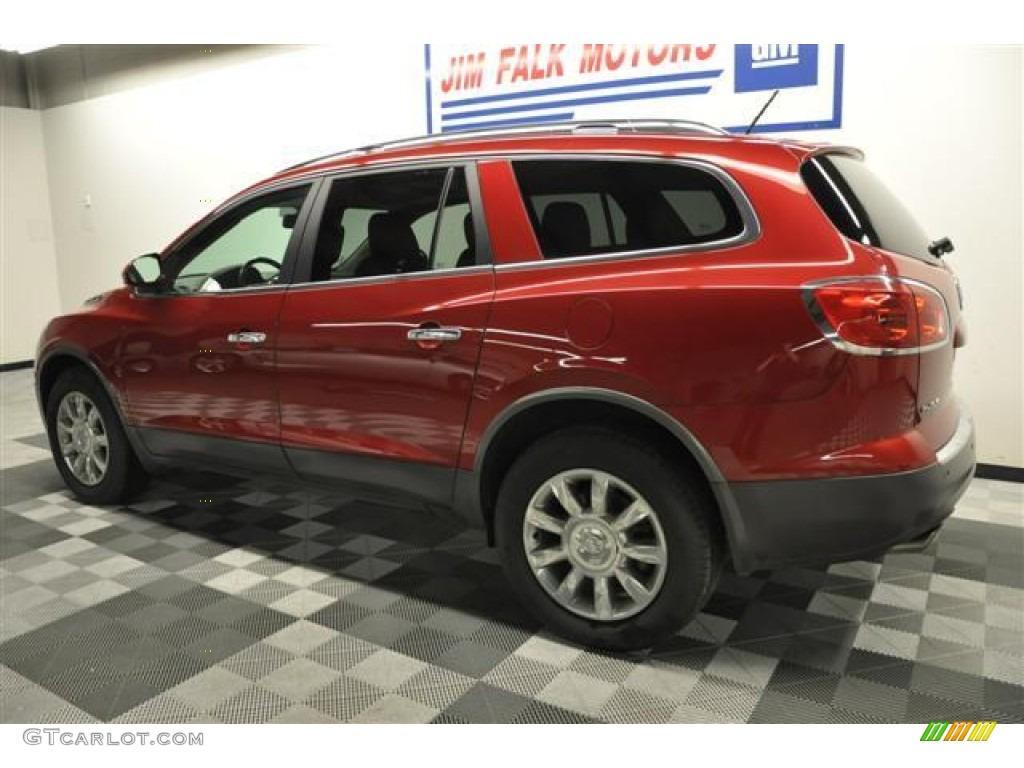 2010 Enclave CXL AWD - Red Jewel Tintcoat / Titanium/Dark Titanium photo #2