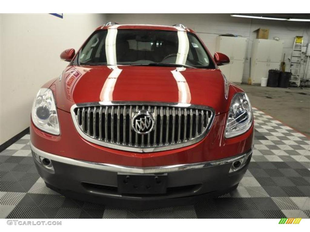 2010 Enclave CXL AWD - Red Jewel Tintcoat / Titanium/Dark Titanium photo #3