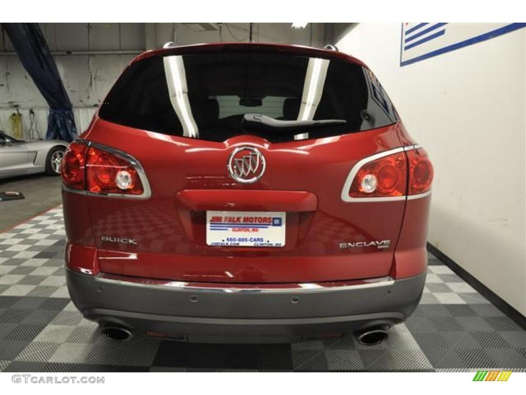 2010 Enclave CXL AWD - Red Jewel Tintcoat / Titanium/Dark Titanium photo #4