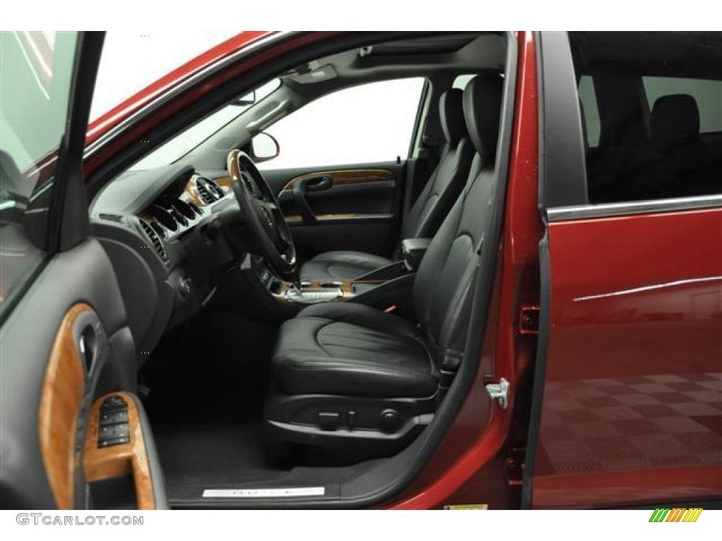 2010 Enclave CXL AWD - Red Jewel Tintcoat / Titanium/Dark Titanium photo #9