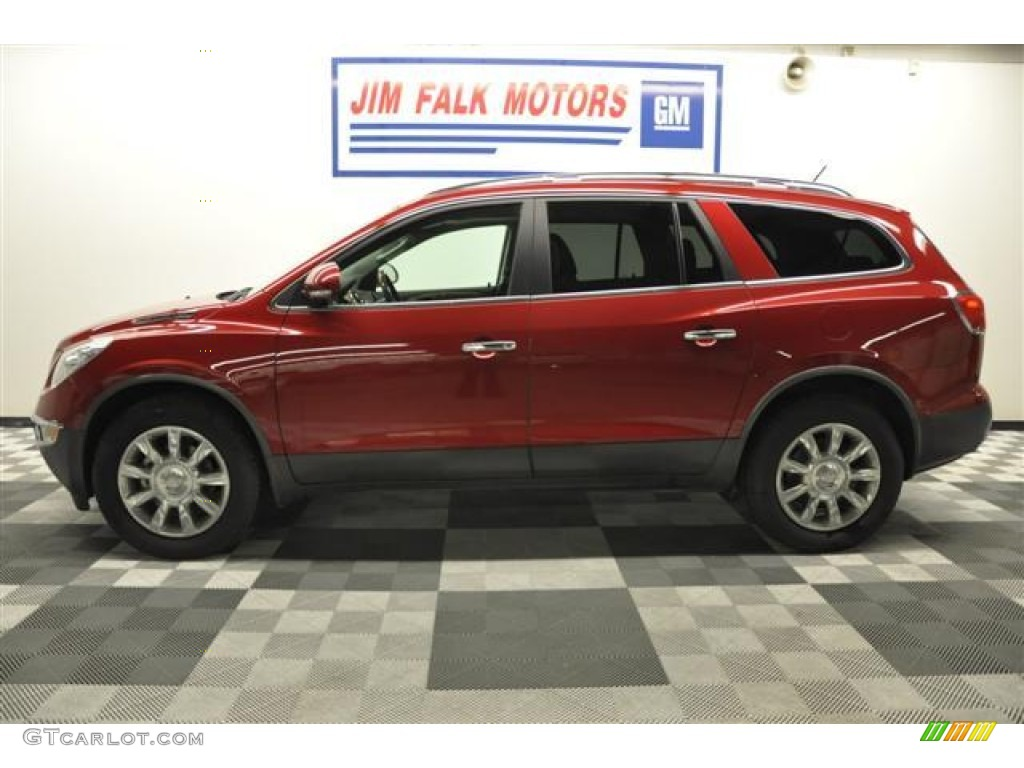 2010 Enclave CXL AWD - Red Jewel Tintcoat / Titanium/Dark Titanium photo #23