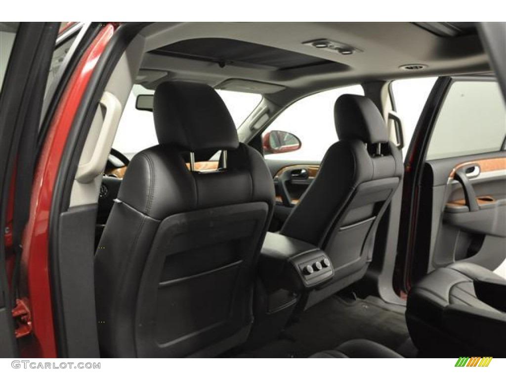 2010 Enclave CXL AWD - Red Jewel Tintcoat / Titanium/Dark Titanium photo #24