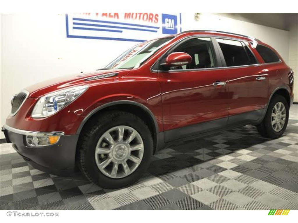 2010 Enclave CXL AWD - Red Jewel Tintcoat / Titanium/Dark Titanium photo #29