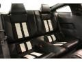 2012 Ford Mustang Charcoal Black/White Interior Rear Seat Photo