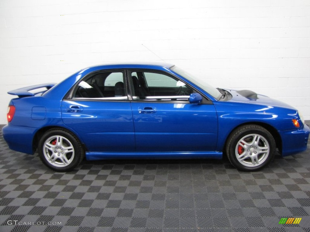 wr blue pearl 2002 subaru impreza wrx sedan exterior photo. Black Bedroom Furniture Sets. Home Design Ideas