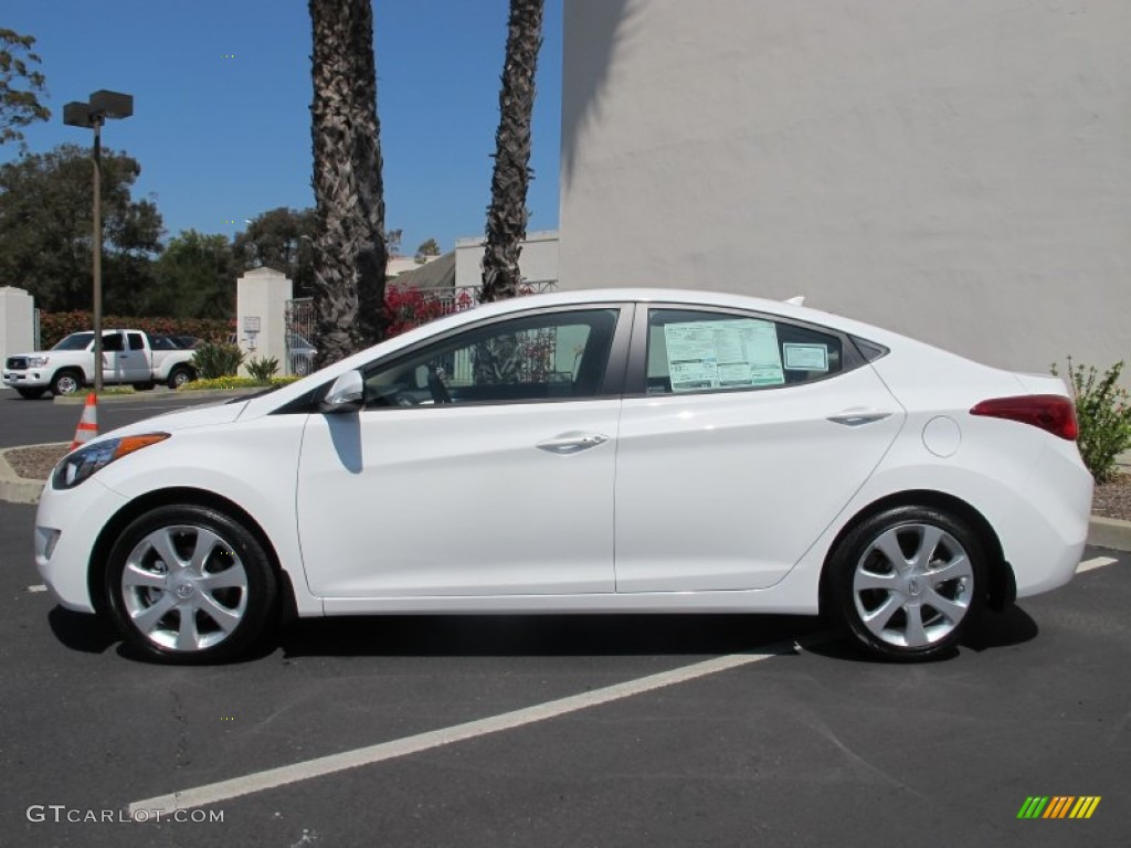 shimmering white 2013 hyundai elantra limited exterior. Black Bedroom Furniture Sets. Home Design Ideas