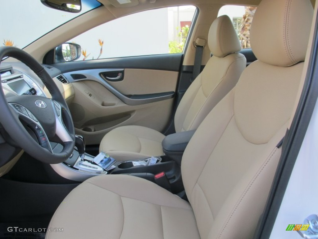 Beige Interior 2013 Hyundai Elantra Limited Photo 63567953