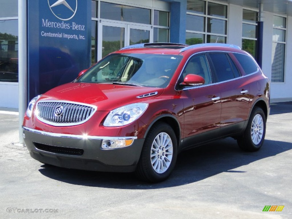2009 Enclave CXL - Red Jewel Tintcoat / Cocoa/Cashmere photo #1