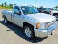 2012 Silver Ice Metallic Chevrolet Silverado 1500 LT Regular Cab 4x4  photo #2