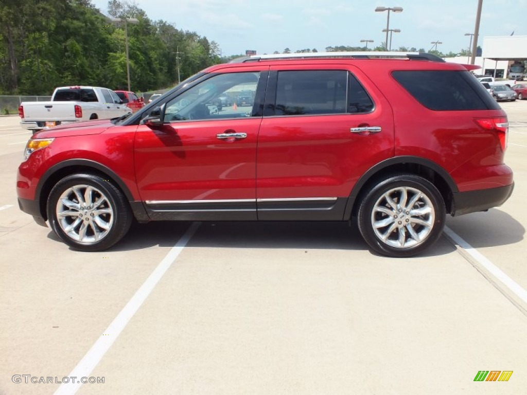 ruby red metallic 2013 ford explorer xlt exterior photo 63600925. Black Bedroom Furniture Sets. Home Design Ideas
