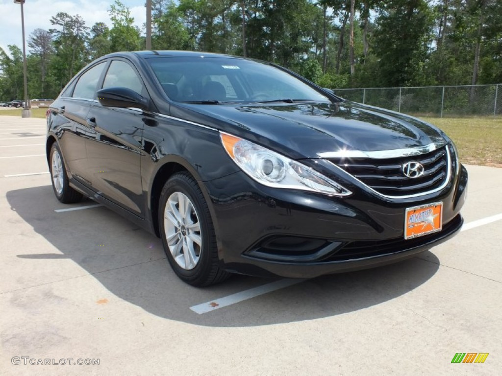 2012 hyundai sonata gls midnight black color gray interior 2012 sonata. Black Bedroom Furniture Sets. Home Design Ideas
