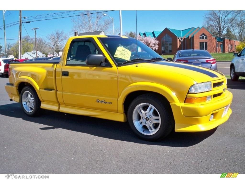 2003 Yellow Chevrolet S10 Xtreme Regular Cab 63596411 Photo 4