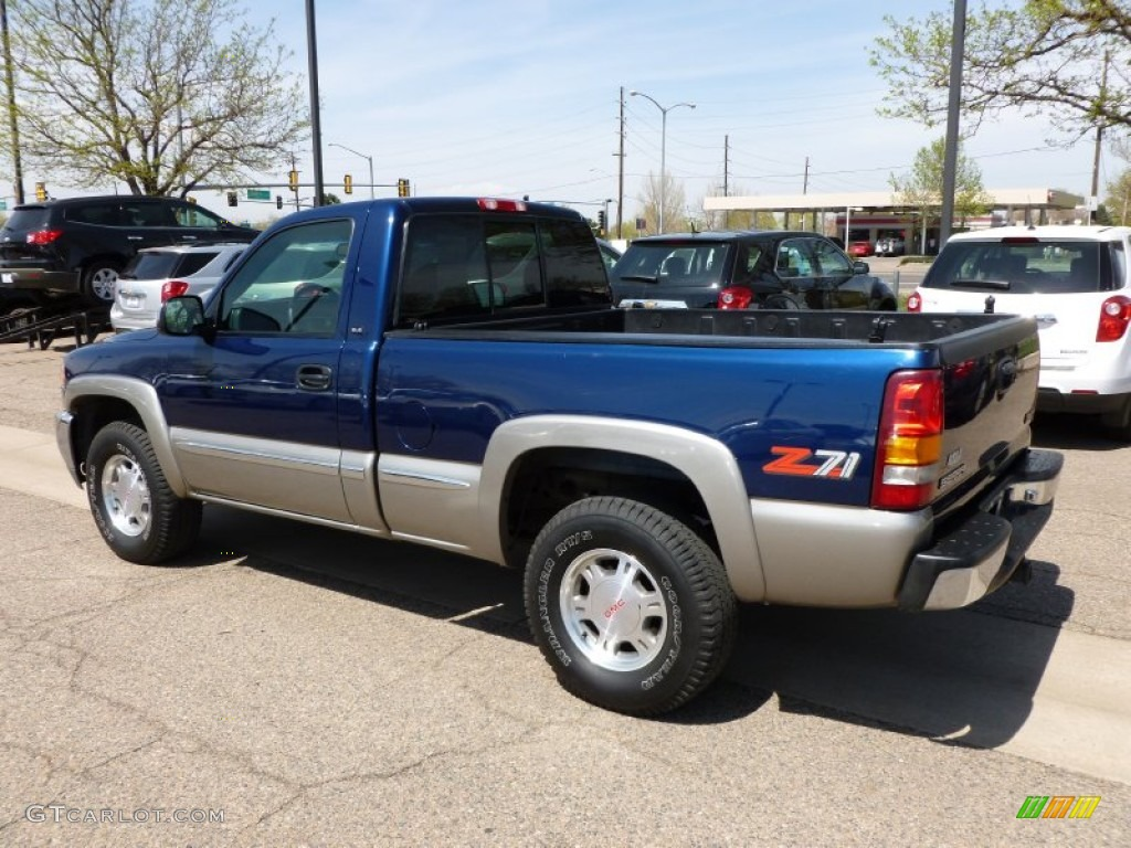 Indigo Blue Metallic 2000 GMC Sierra 1500 SLE Regular Cab 4x4 Exterior Photo #63607075 ...