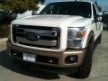 2012 White Platinum Metallic Tri-Coat Ford F250 Super Duty King Ranch Crew Cab 4x4  photo #2