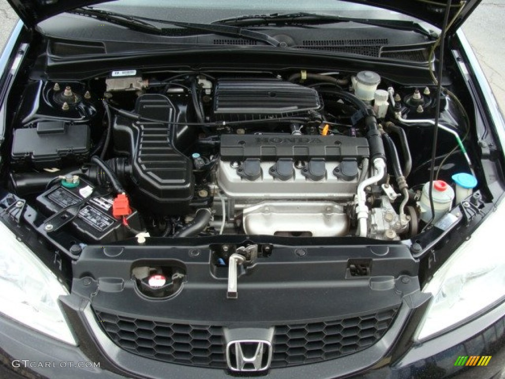 2004 honda civic lx coupe 1 7l sohc 16v vtec 4 cylinder. Black Bedroom Furniture Sets. Home Design Ideas