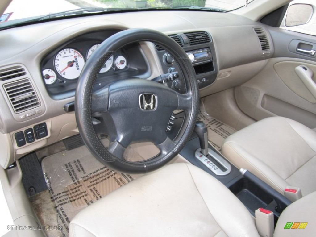 Beige Interior 2002 Honda Civic Ex Sedan Photo 63614785