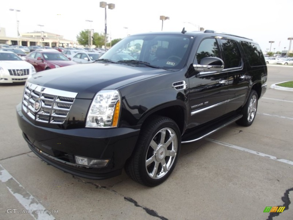 2012 Cadillac Escalade ESV Luxury AWD - Black Raven Color / Ebony