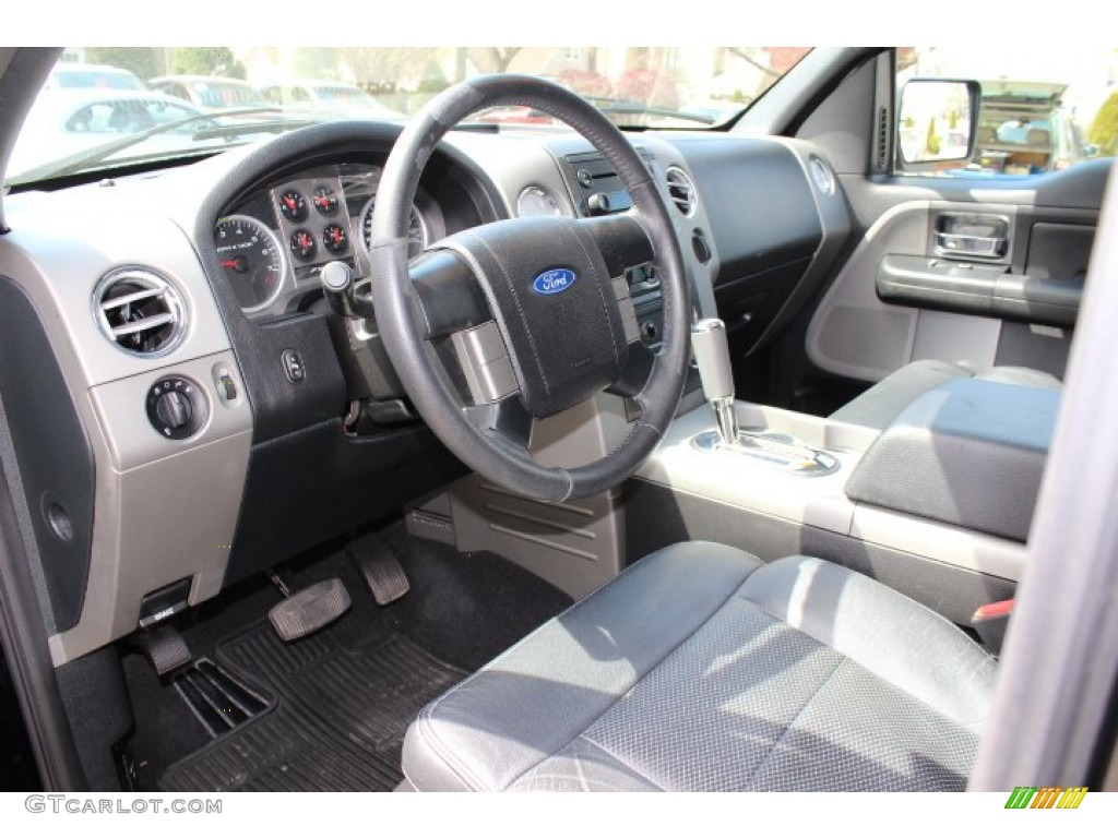 Black Interior 2006 Ford F150 FX4 SuperCrew 4x4 Photo #63623446