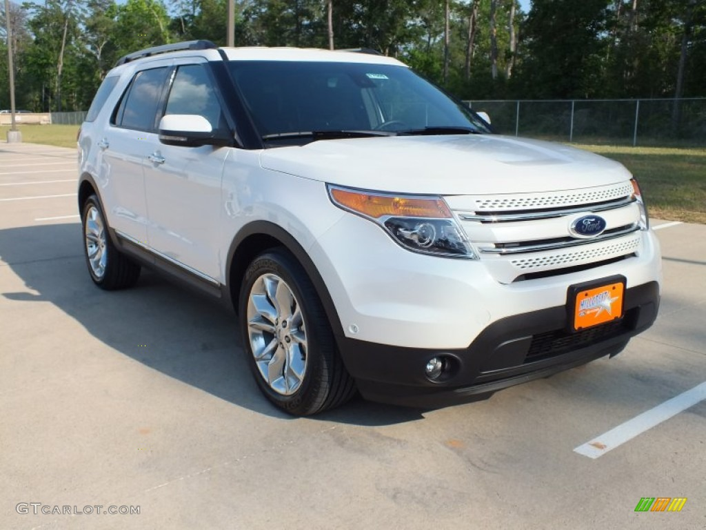 White platinum tri coat ford explorer