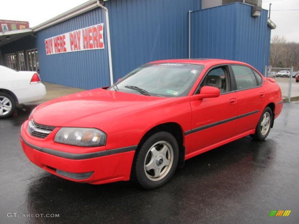 2000 Impala LS - Torch Red / Medium Gray photo #1