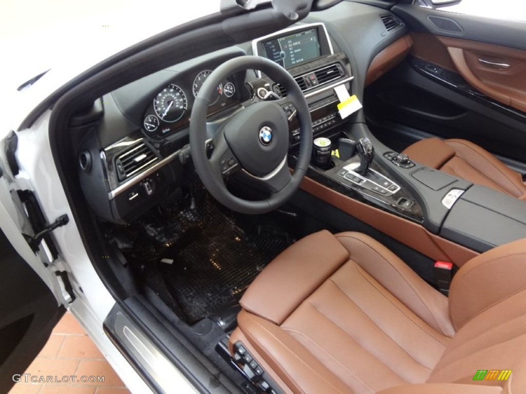cinnamon brown nappa leather interior 2012 bmw 6 series 650i xdrive convertible photo 63682947. Black Bedroom Furniture Sets. Home Design Ideas