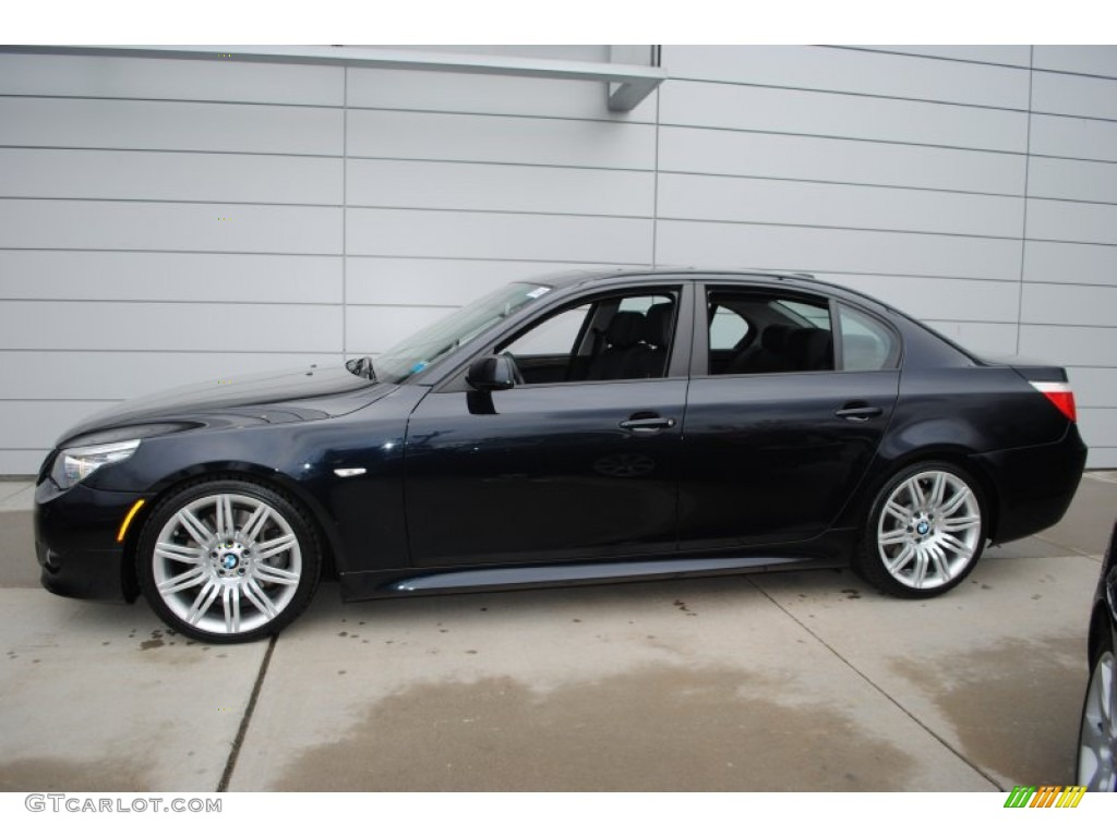 carbon black metallic 2009 bmw 5 series 550i sedan. Black Bedroom Furniture Sets. Home Design Ideas
