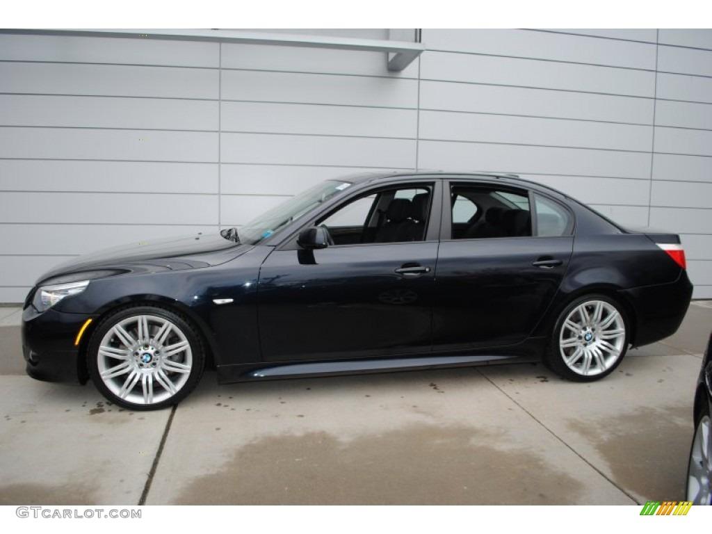 Carbon Black Metallic 2009 BMW 5 Series 550i Sedan Exterior Photo