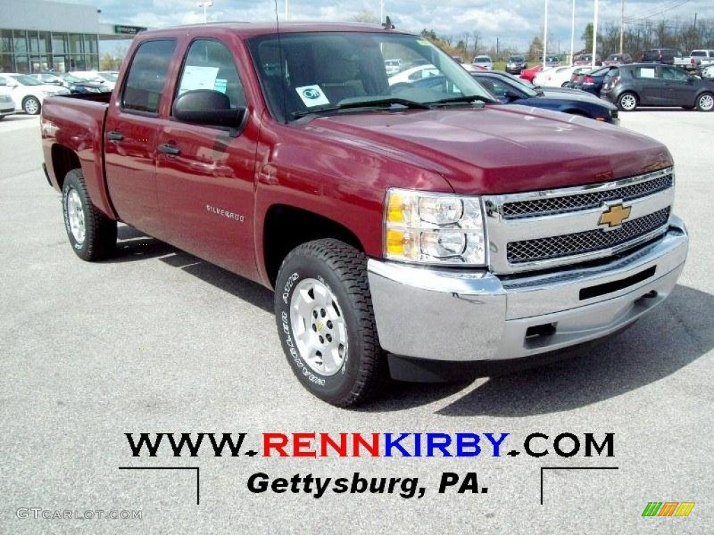 2012 Silverado 1500 LT Crew Cab 4x4 - Deep Ruby Metallic / Light Titanium/Dark Titanium photo #1
