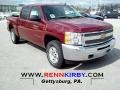2012 Deep Ruby Metallic Chevrolet Silverado 1500 LT Crew Cab 4x4  photo #1