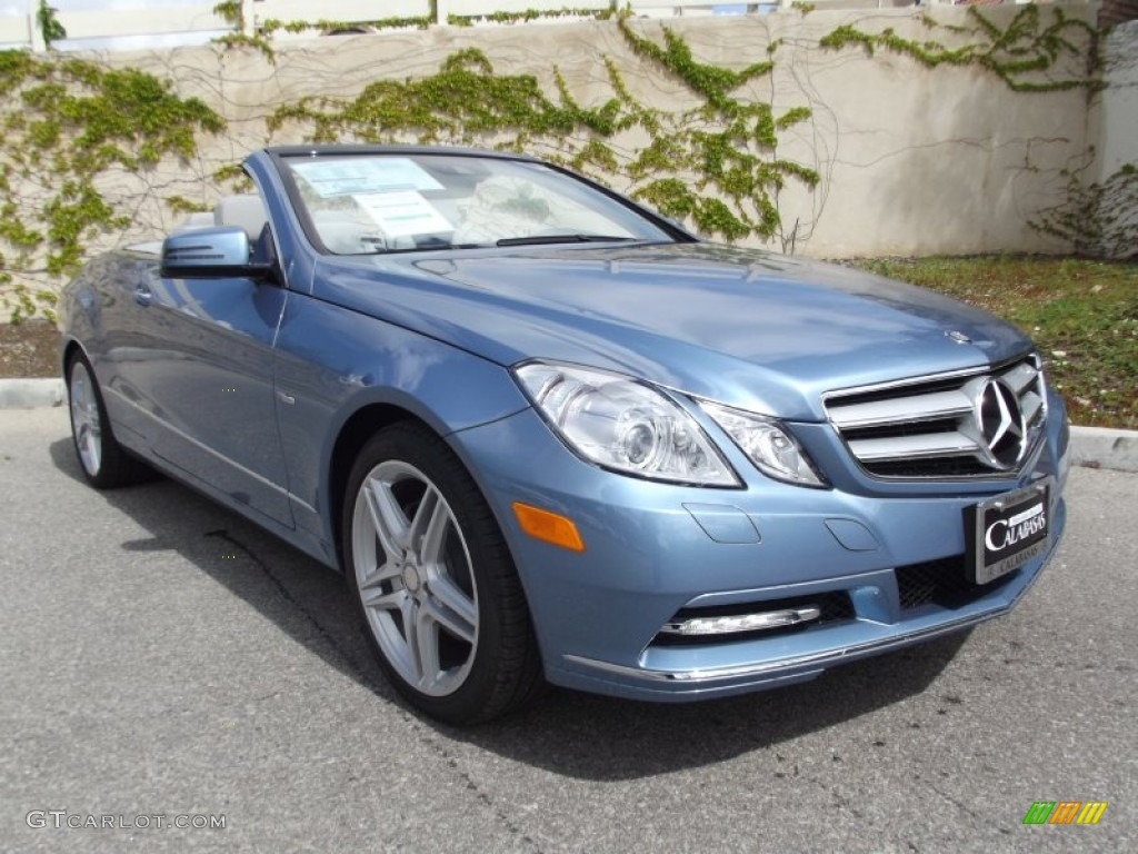 2012 quartz blue metallic mercedes benz e 350 cabriolet for 2012 mercedes benz e350 convertible
