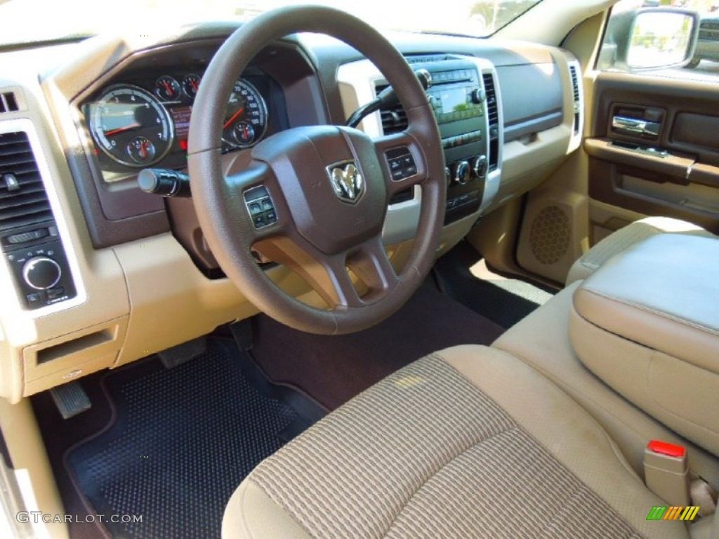 Light Pebble Beige Bark Brown Interior 2012 Dodge Ram 1500 Slt Quad Cab Photo 63709913