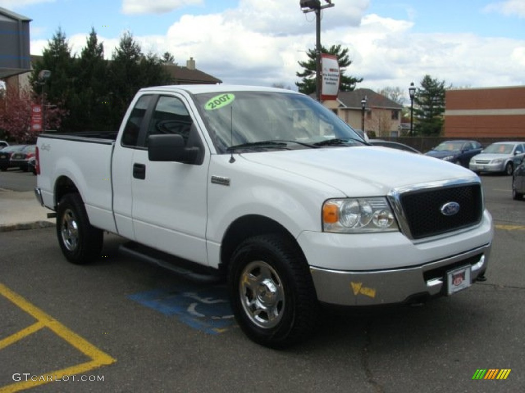 2007 oxford white ford f150 xlt regular cab 4x4 63724032 photo 3 car color. Black Bedroom Furniture Sets. Home Design Ideas