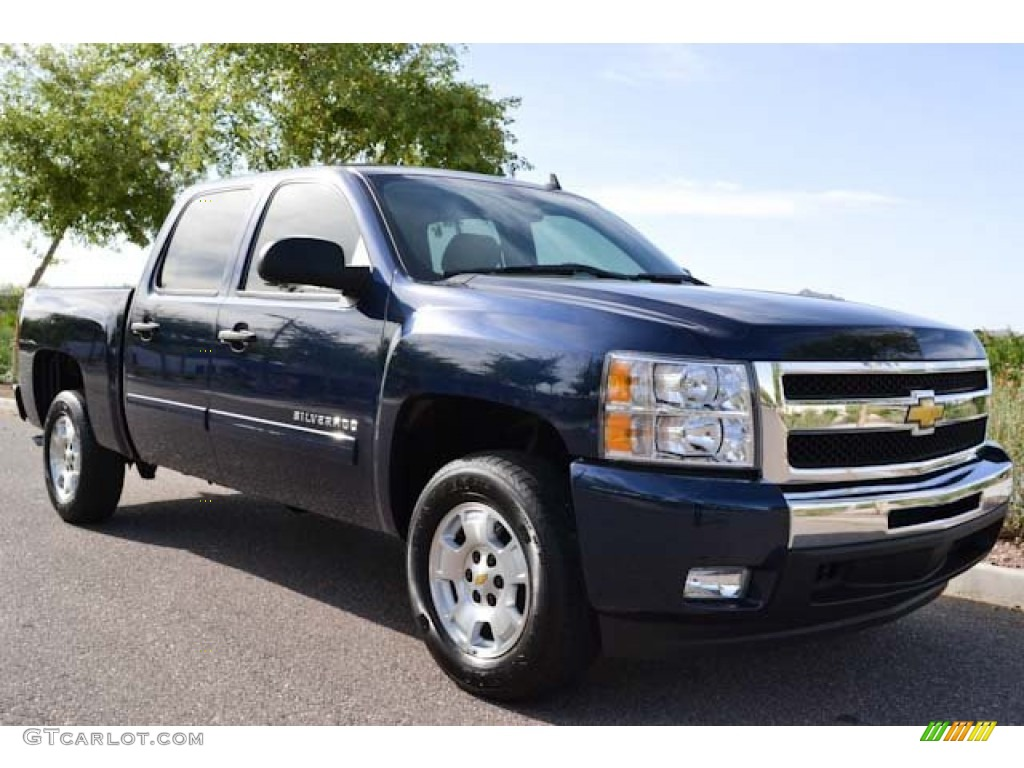 2011 Silverado 1500 LT Crew Cab - Imperial Blue Metallic / Light Cashmere/Ebony photo #1