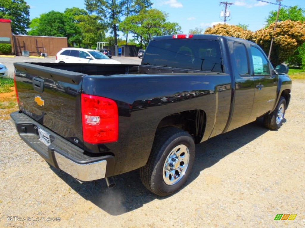 2012 Silverado 1500 LS Extended Cab - Black Granite Metallic / Dark Titanium photo #6