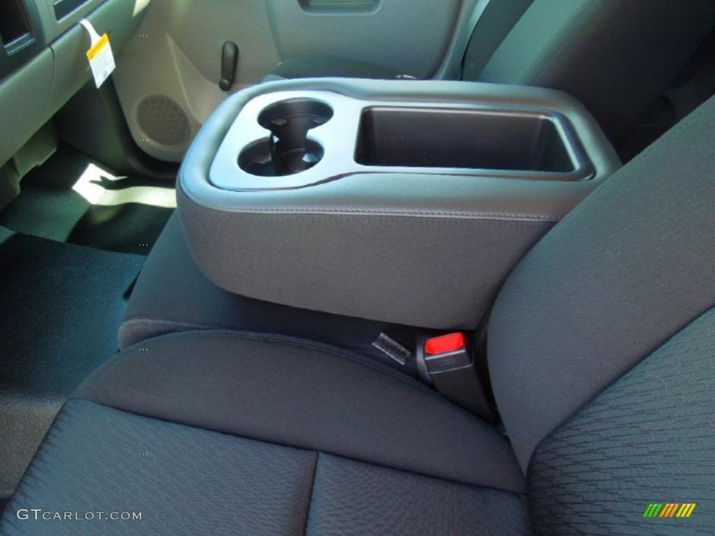 2012 Silverado 1500 LS Extended Cab - Black Granite Metallic / Dark Titanium photo #9