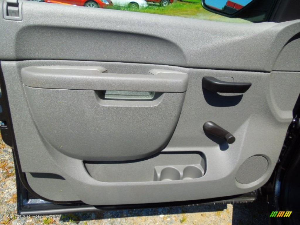 2012 Silverado 1500 LS Extended Cab - Black Granite Metallic / Dark Titanium photo #10
