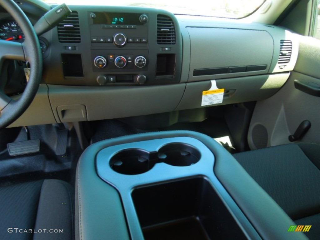 2012 Silverado 1500 LS Extended Cab - Black Granite Metallic / Dark Titanium photo #17