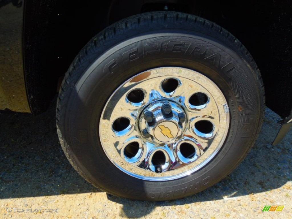 2012 Silverado 1500 LS Extended Cab - Black Granite Metallic / Dark Titanium photo #23