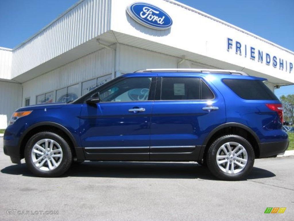 2013 Deep Impact Blue Metallic Ford Explorer Xlt Ecoboost