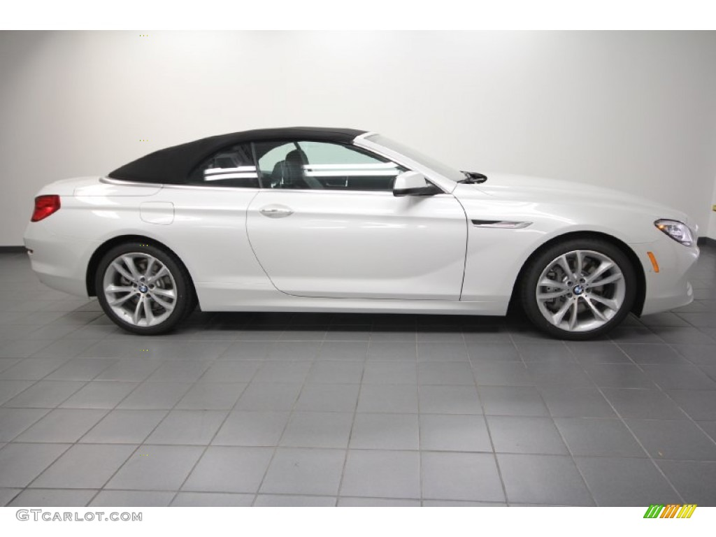 Mineral White Metallic 2012 Bmw 6 Series 640i Convertible Exterior Photo 63801801 Gtcarlot Com