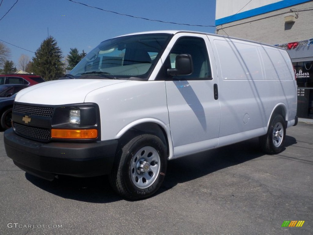 Summit white 2012 chevrolet express 1500 awd cargo van exterior photo 63802410