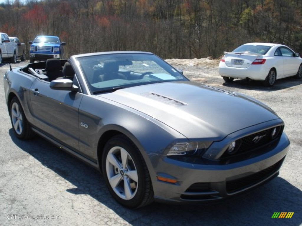 2013 mustang gt convertible sterling gray metallic charcoal black photo 2