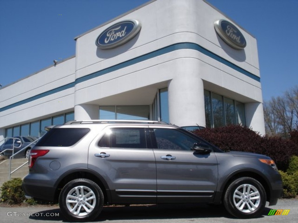 Sterling Gray Metallic 2013 Ford Explorer XLT 4WD Exterior Photo