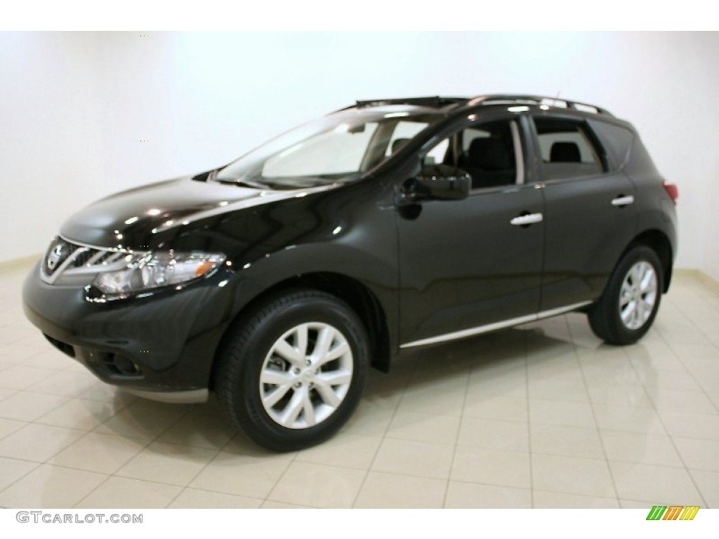 2011 Murano SV AWD - Super Black / Black photo #3